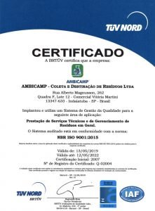 ISO 9001:2015 (Português / Inglês)